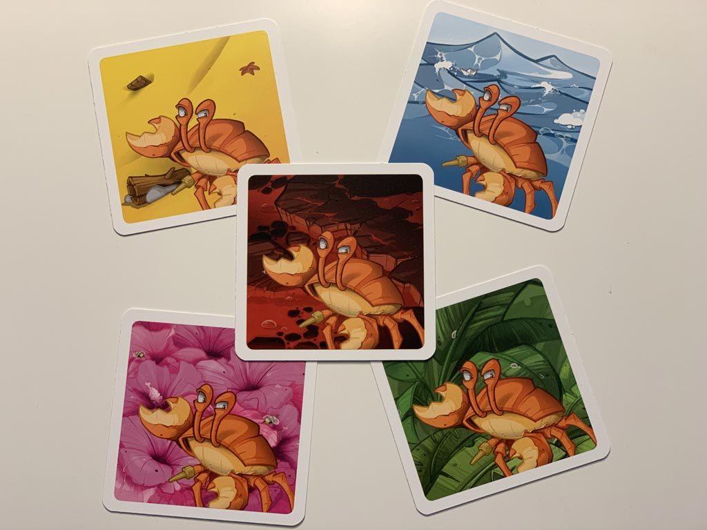 Memoarrr! Les 5 cartes du crabe