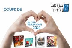 Nos coups de cœur de Janvier à Mars 2020