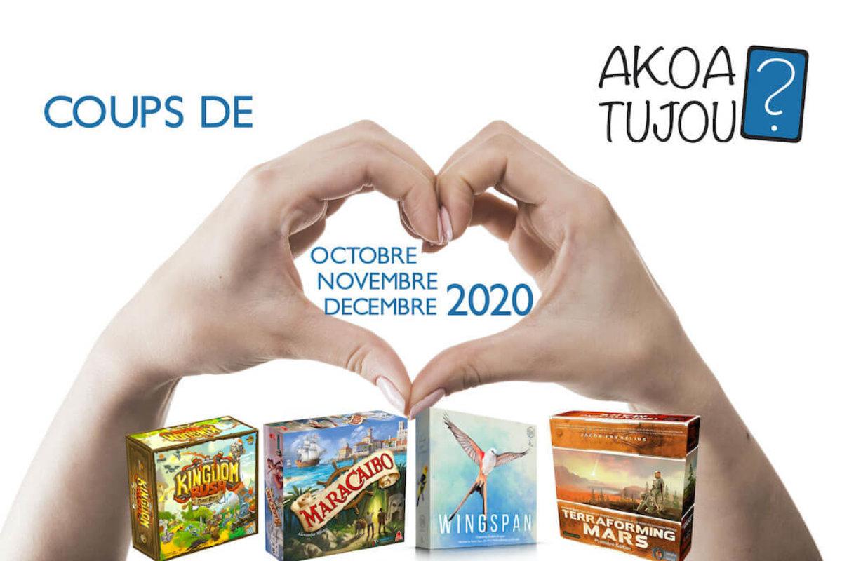 Nos coups de cœur de Octobre à Décembre 2020